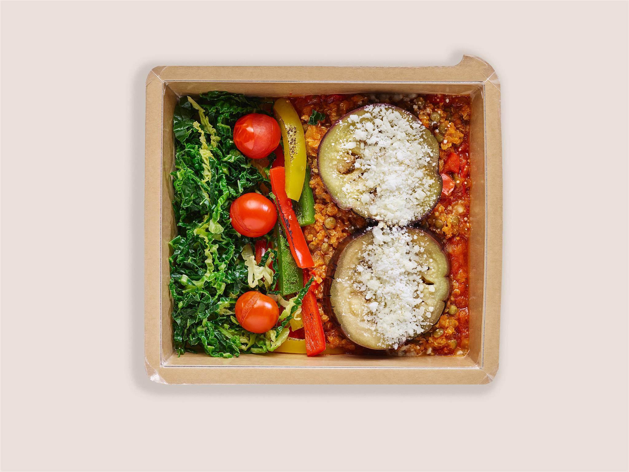 Lentil & Quinoa Moussaka with Savoy Cabbage