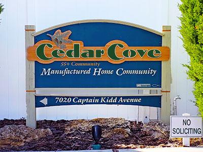 Cedar Cove sign