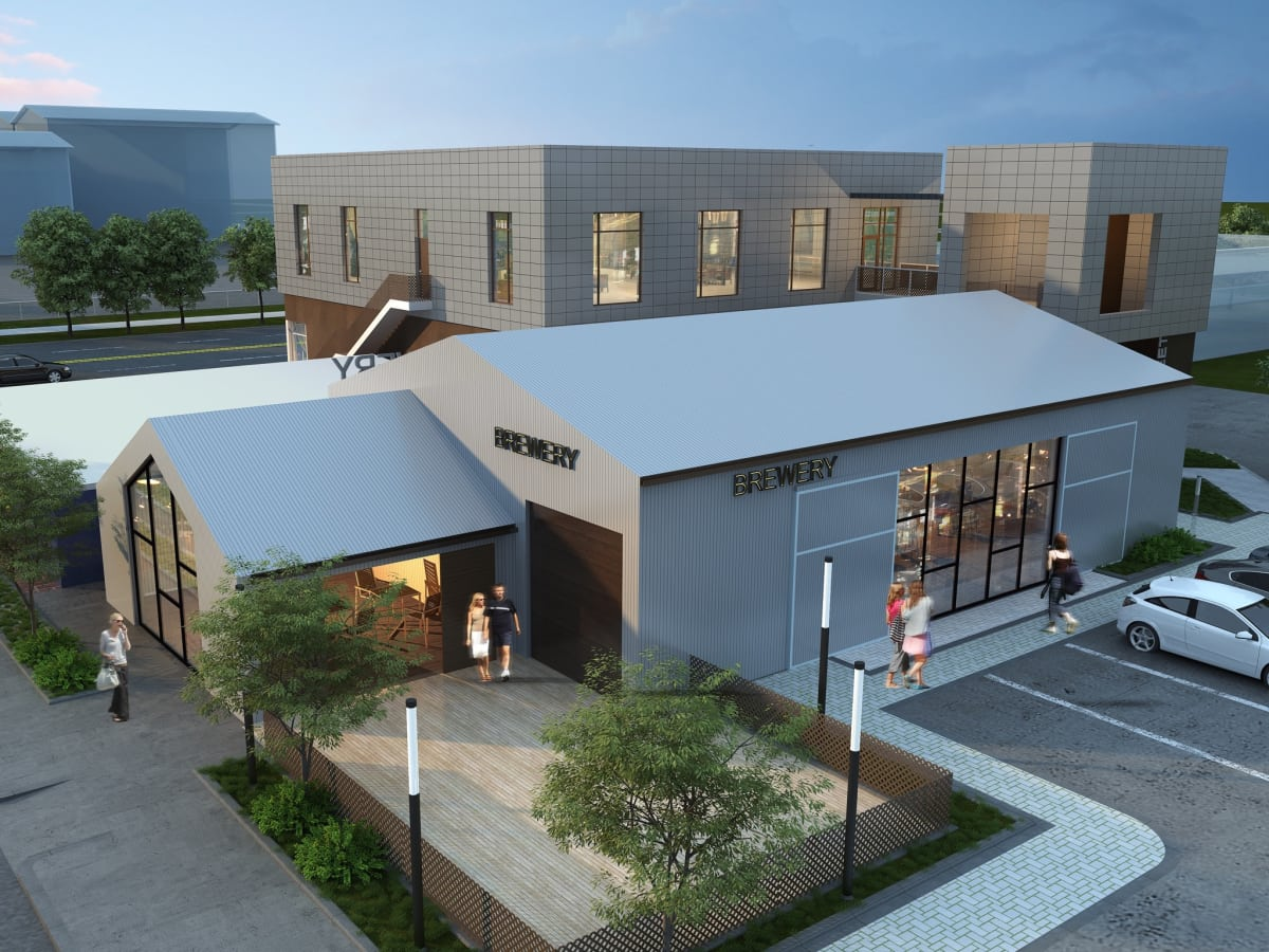 Rendering of Tenfold Coffee, Houston