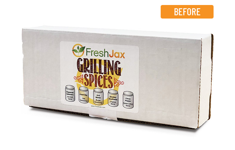 FreshJax Packaging Before