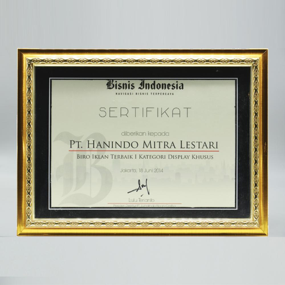 Bisnis Indonesia - Biro Iklan Terbaik 1 Kategori Display Khusus