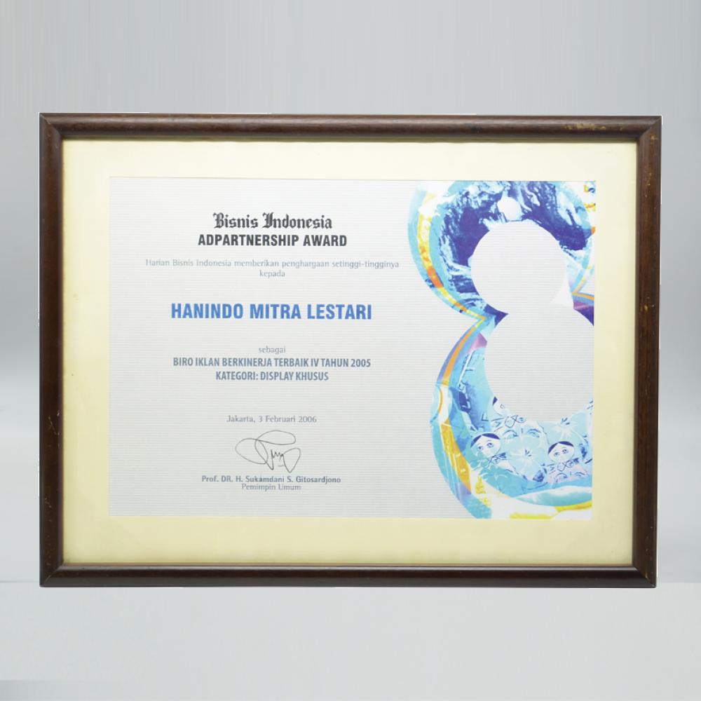 Biro Iklan Terbaik IV 2005 - Bisnis Indonesia