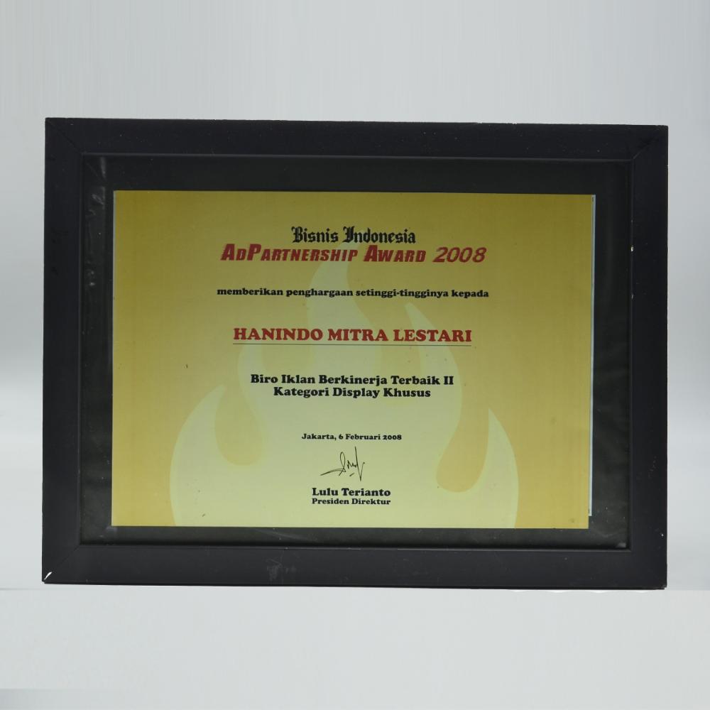 Bisnis Indonesia Biro Iklan Berkinerja Terbaik II Kategori Display Khusus