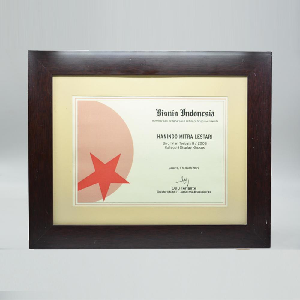 Bisnis Indonesia Biro Iklan Terbaik II Kategori Display Khusus 2008