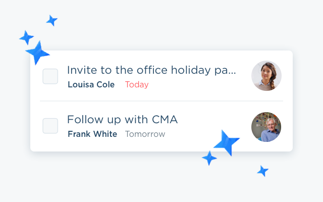 Checking off next steps with people in your network moves you one step closer to winning your next listing.