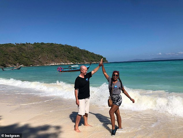 'Seasteaders' Bitcoin Girl Thailand and Chad Elwartowski enjoying the golden beaches of Thailand. The kingdom has accused the coupe of violating its sovereignty