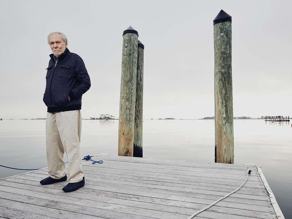 Bruce Kirby on the dock