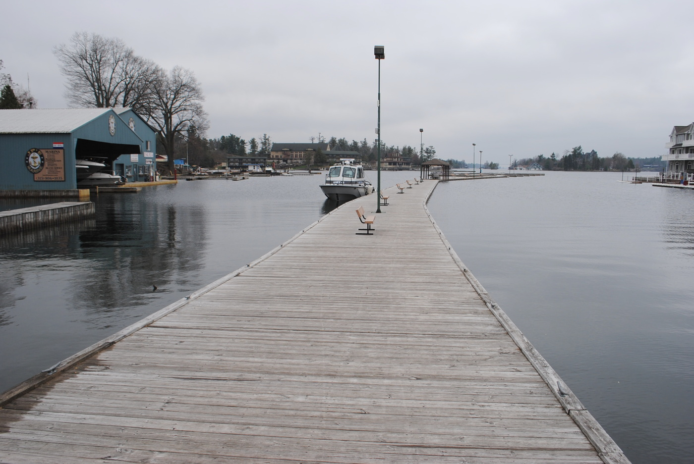 The docks in Alexandria Bay aren't flooded yet, but the St. Lawrence River is forecast to keep rising. Photo: Emily Russell