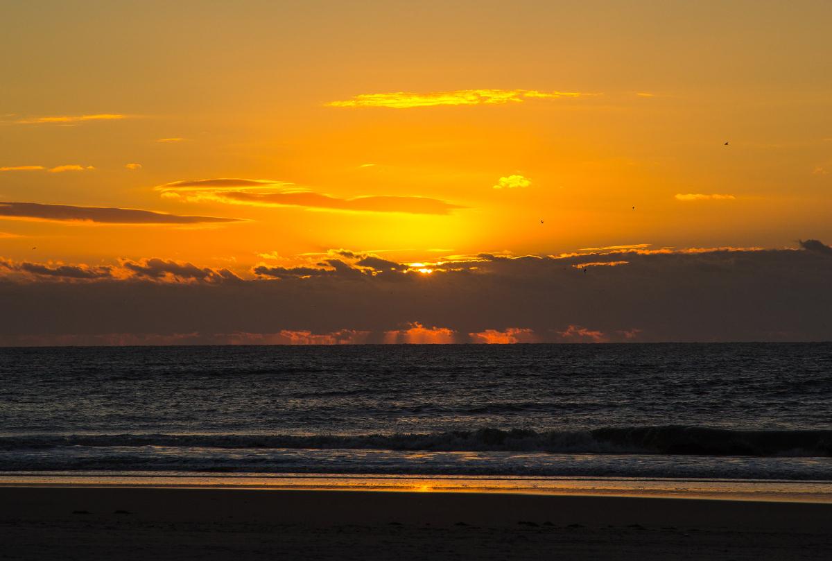 Ocracoke Lifeguarded Beach at sunrise.