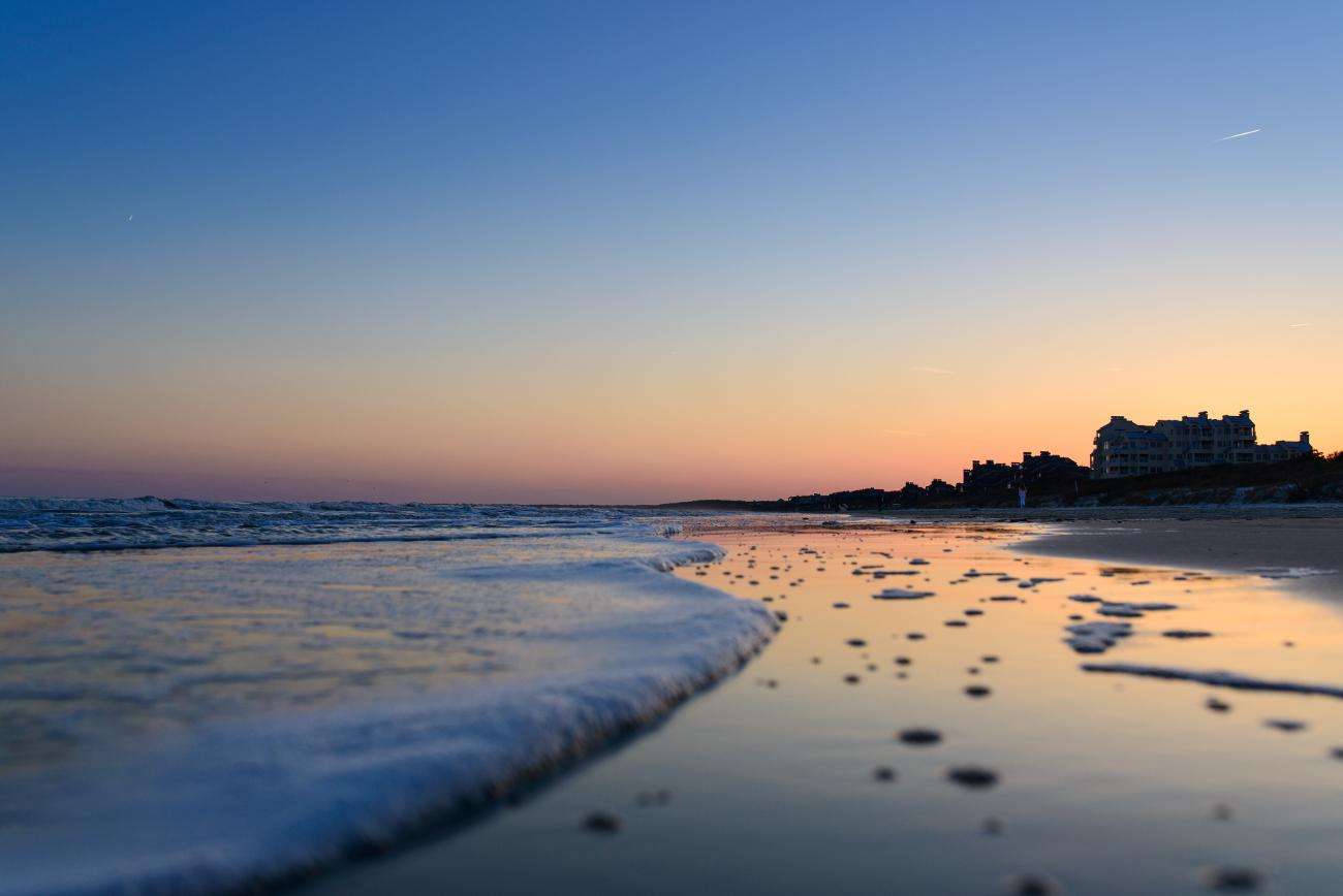 Kiawah Island at sunset.