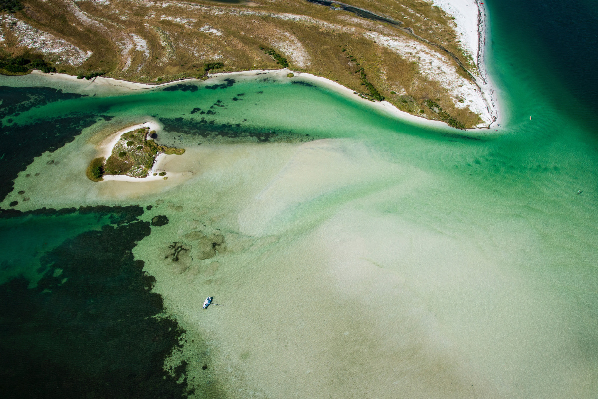 Caladesi Island State Park from above