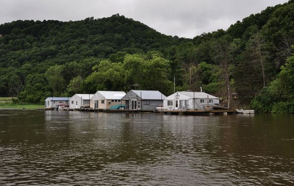 Floating cabins line the bank of the Mississippi River near Brownsville, Minnesota. (Photo by Tristan Baurick, NOLA.com   The Times-Picayune)