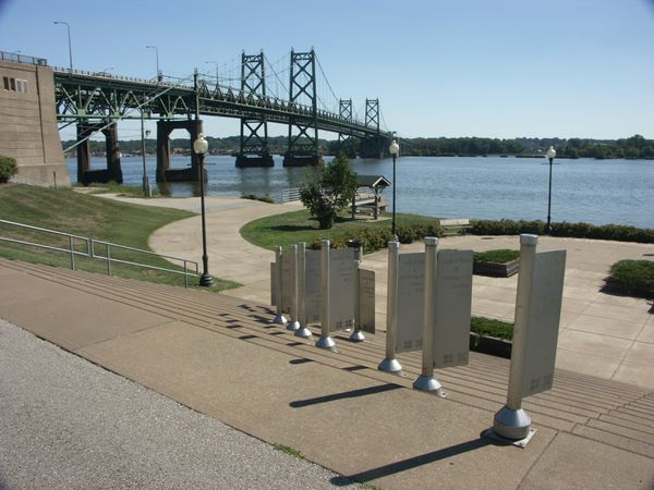 Floodable parks and plazas dominate the riverfront of Davenport, Iowa. City leaders embrace flooding rather than fight it with walls and levees. (Photo courtesy of Visit Quad Cities)