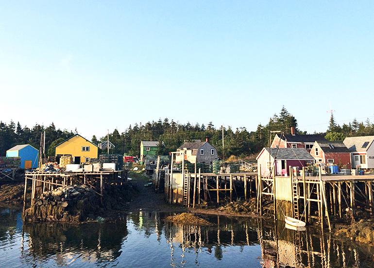 The fishing harbor at Matinicus Isle, Maine