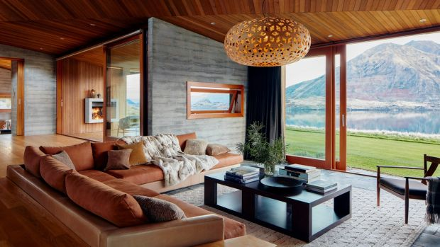 A luxury home for rent on Lake Wanaka in New Zealand. A new rental tier expands Airbnb's accommodation options to include 2,000 high-end homes and villas. Photograph: Airbnb