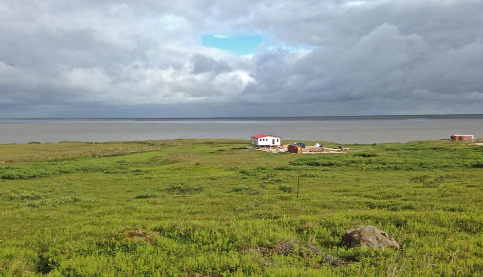 A home built in 2016 at Mertarvik, Alaska, where villagers are moving from Newtok. (Photo courtesy Aaron Cooke)