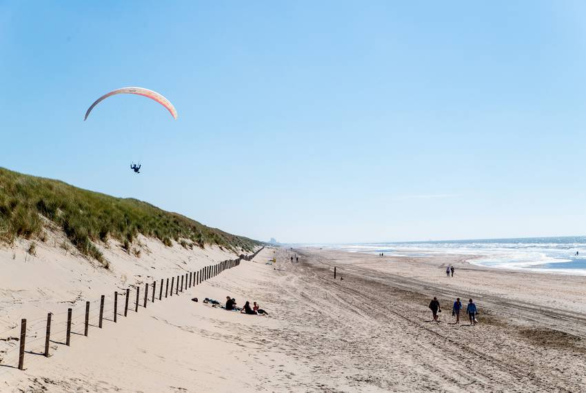 The dunes near the Langevelderslag beach in Noordwijk are 65 feet high and more than a mile wide, and they can protect against a 10,000-year storm. They are natural, formed as long as 5,000 years ago, but regularly maintained by Dutch water agencies.