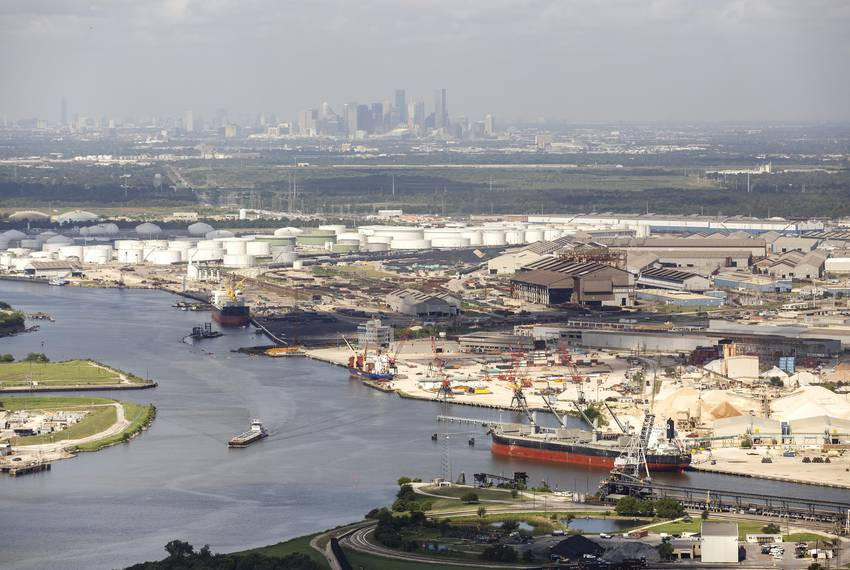 The industrial complex along the Houston Ship Channel in 2016.