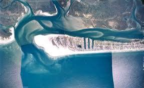An aerial view of Topsail Beach. (Port City Daily photo/Courtesy Town of Topsail Beach)