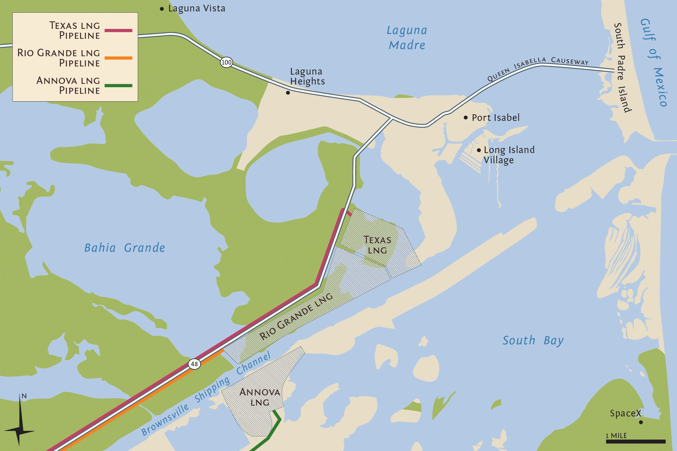 Port Isabel, Long Island Village, and Laguna Heights are as close to a mile and a half to the proposed plants.