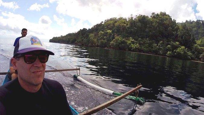 Man in watercraft