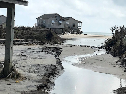 Hurricane Dorian damage to Long Point Cabins at Cape Lookout National Seashore/NPS