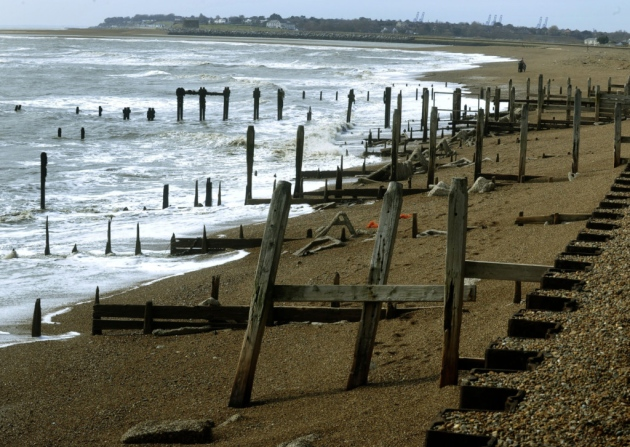 There has been severe erosion of the coastline Picture: ANDREW PARTRIDGE