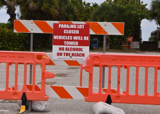 1st Street South in Cocoa Beach closed to parking. Beachside parking in Brevard has been closed to parking since March, but the beaches remained open with restrictions.  County-owned beach parking may soon open, but city-owned beach parking could remain closed for longer.