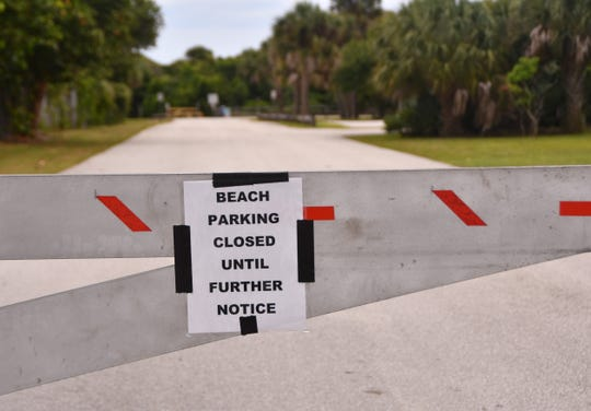 County parks beachside in Brevard have been closed to parking since March. Lori Wilson Park in Cocoa Beach is closed and gated to cars.