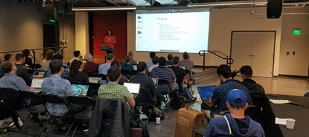 The number of software developers, data managers, and technical professionals who convened to advance capabilities to publish ocean and lake observations.