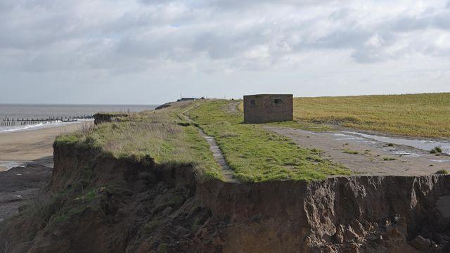 Coastal erosion at Happisburgh. Picture: Danielle Booden