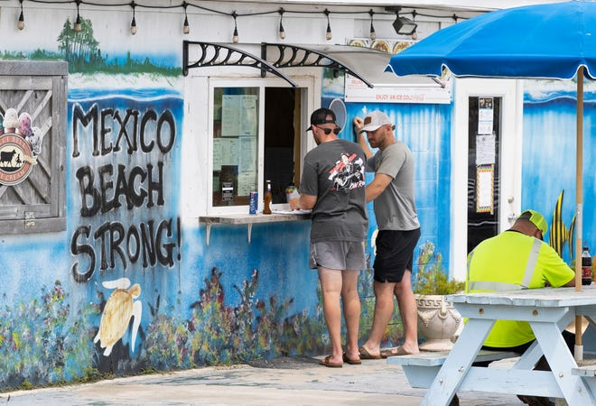 Beach Pizza bears an inspirational message in Mexico Beach. It has been three years since Hurricane Michael tore through Mexico Beach and left the town in ruins.