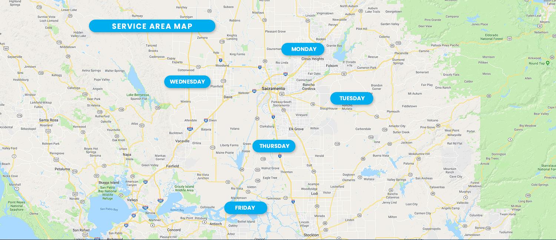 Shredding Service Area Map