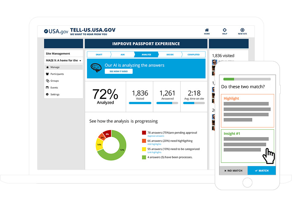 image of insights website dashboard
