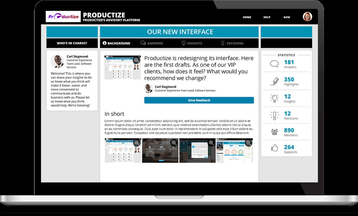 אתר תובנות לניהול מועצת לקוחות דיגיטלית