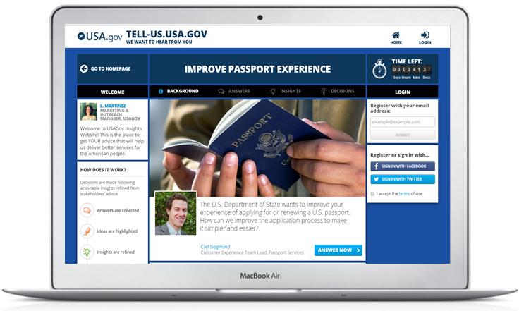 USAgov insgihts website