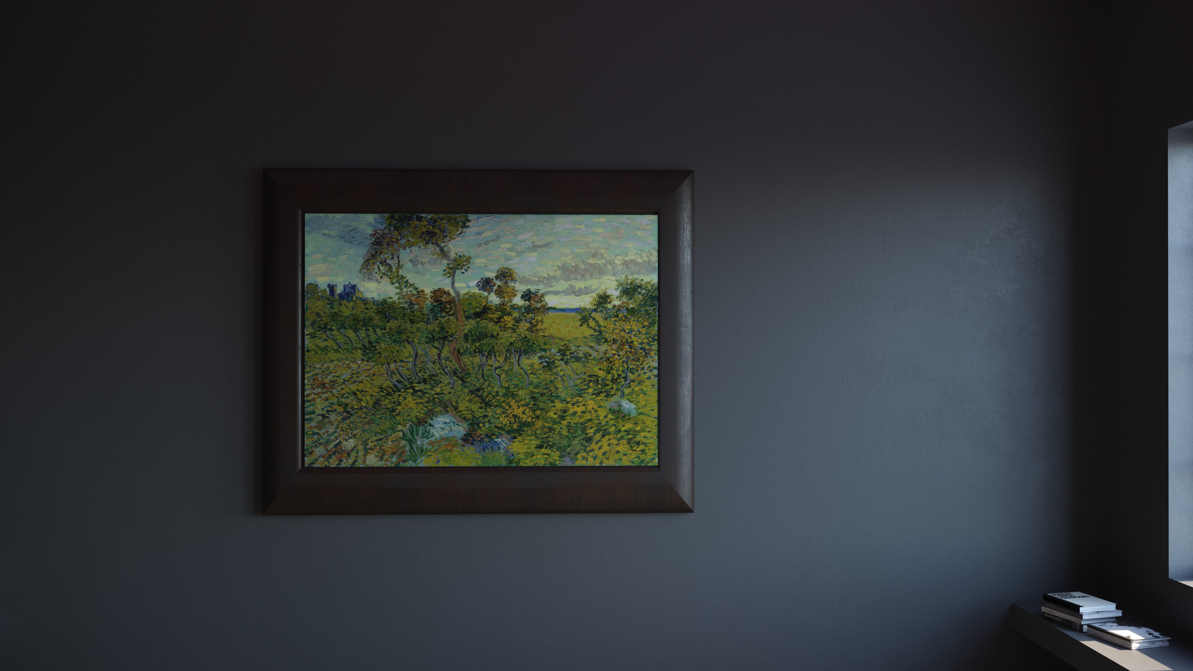 An image of a painting incorrectly believed to be a forgery. It was reattributed as an authentic Van Gogh in recent years.