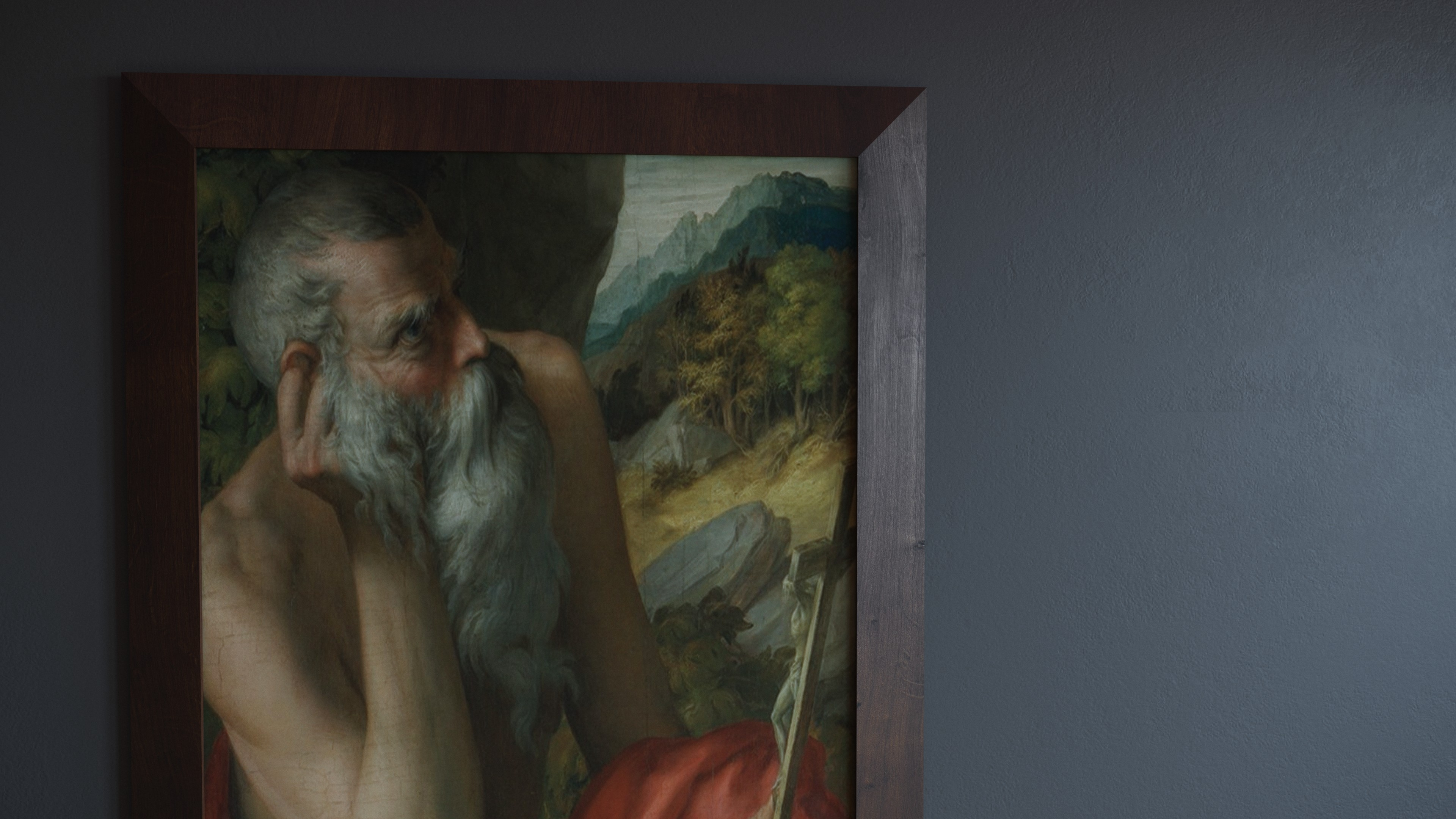 Image of a painting that has been identified as an Old Master forgery. Fake Parmigianino
