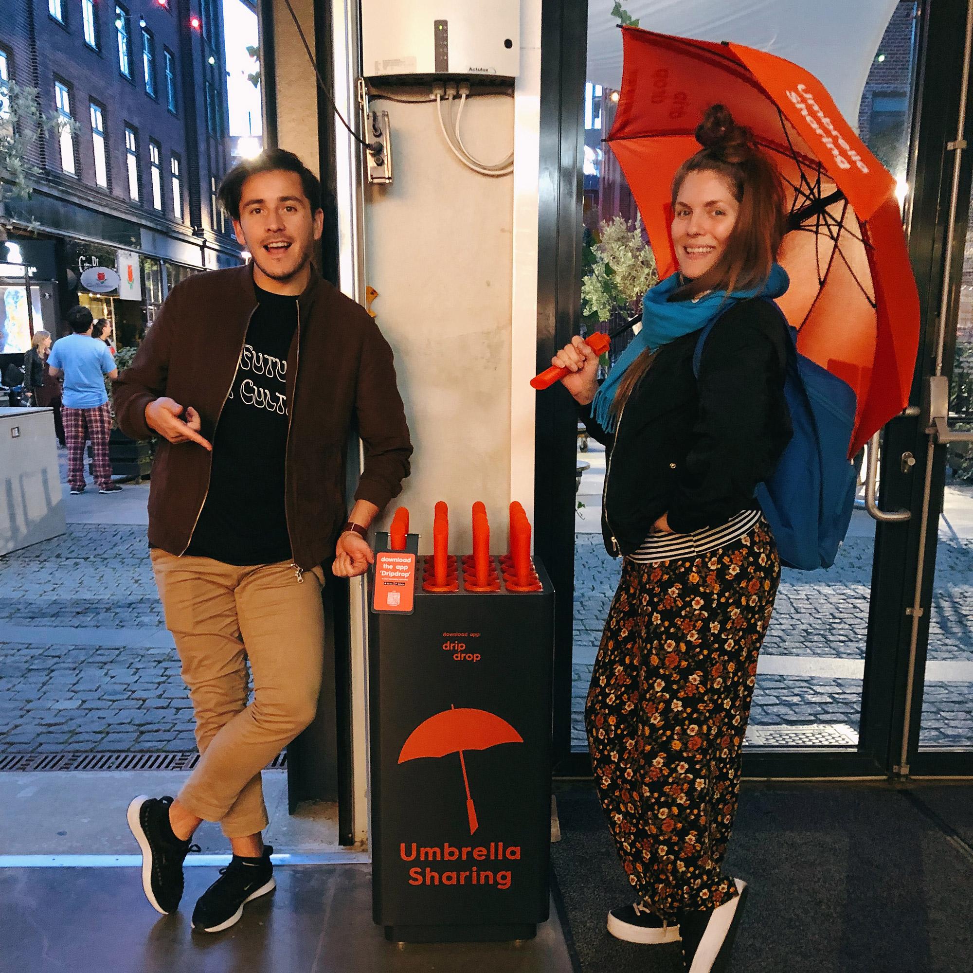 Dripdrop Umbrella Sharing - Aarhus location