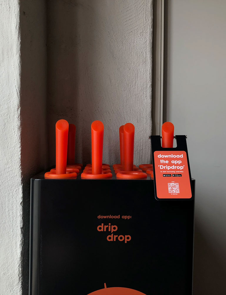 Dripdrop umbrella sharing station