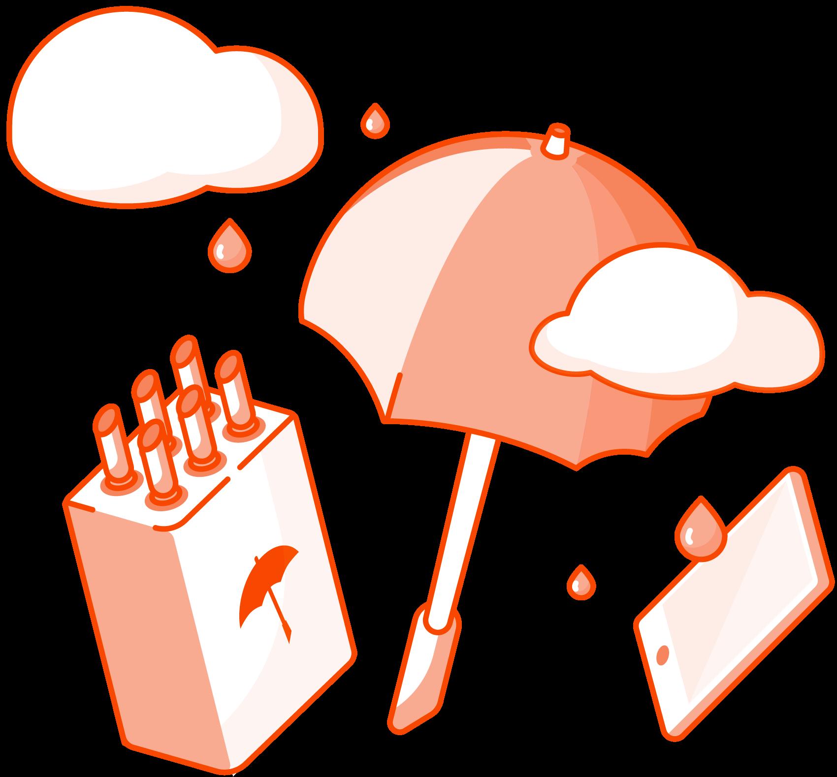 Dripdrop Umbrella Sharing - Aarhus, illustration