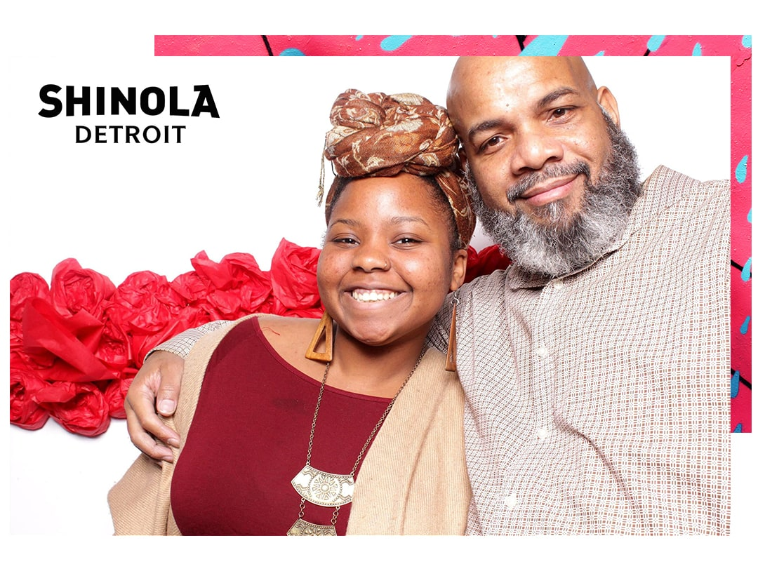 Shinola Detroit Holiday Party Photo Booth