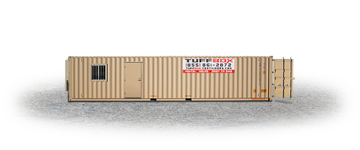Mobile Office and Storage Combo Container