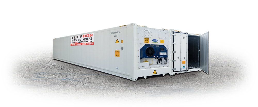 White Refrigerated Cold Storage Container