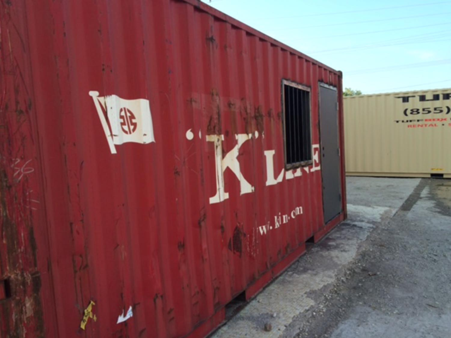 custom shipping container window