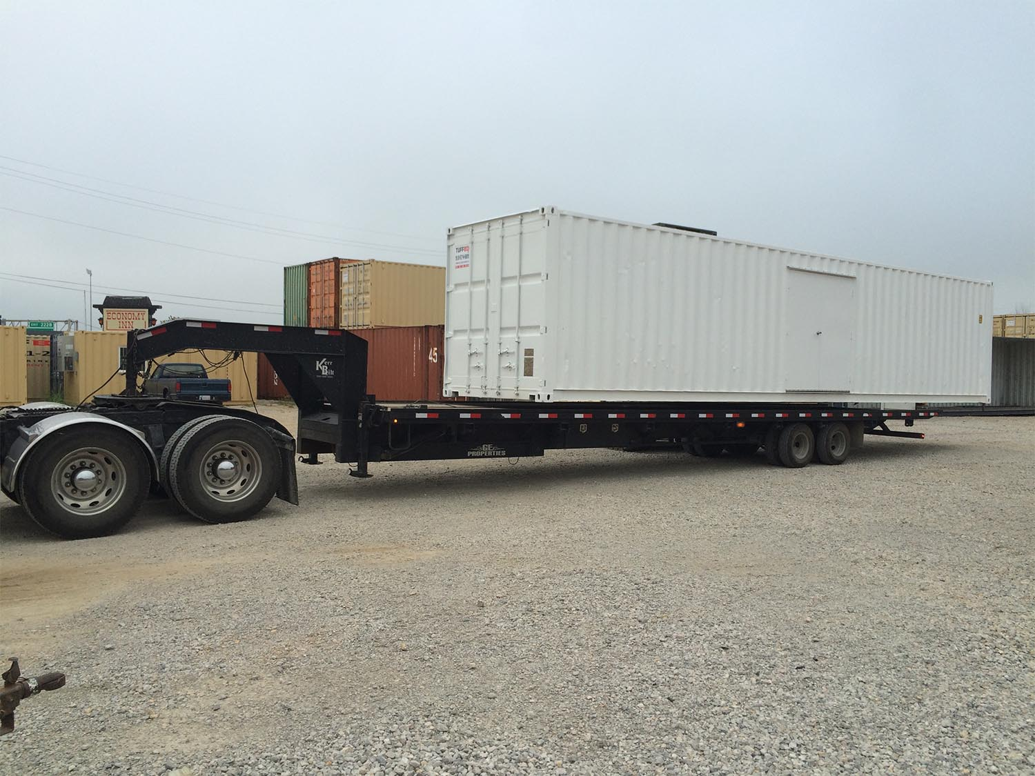 Custom Shipping container on a trailer