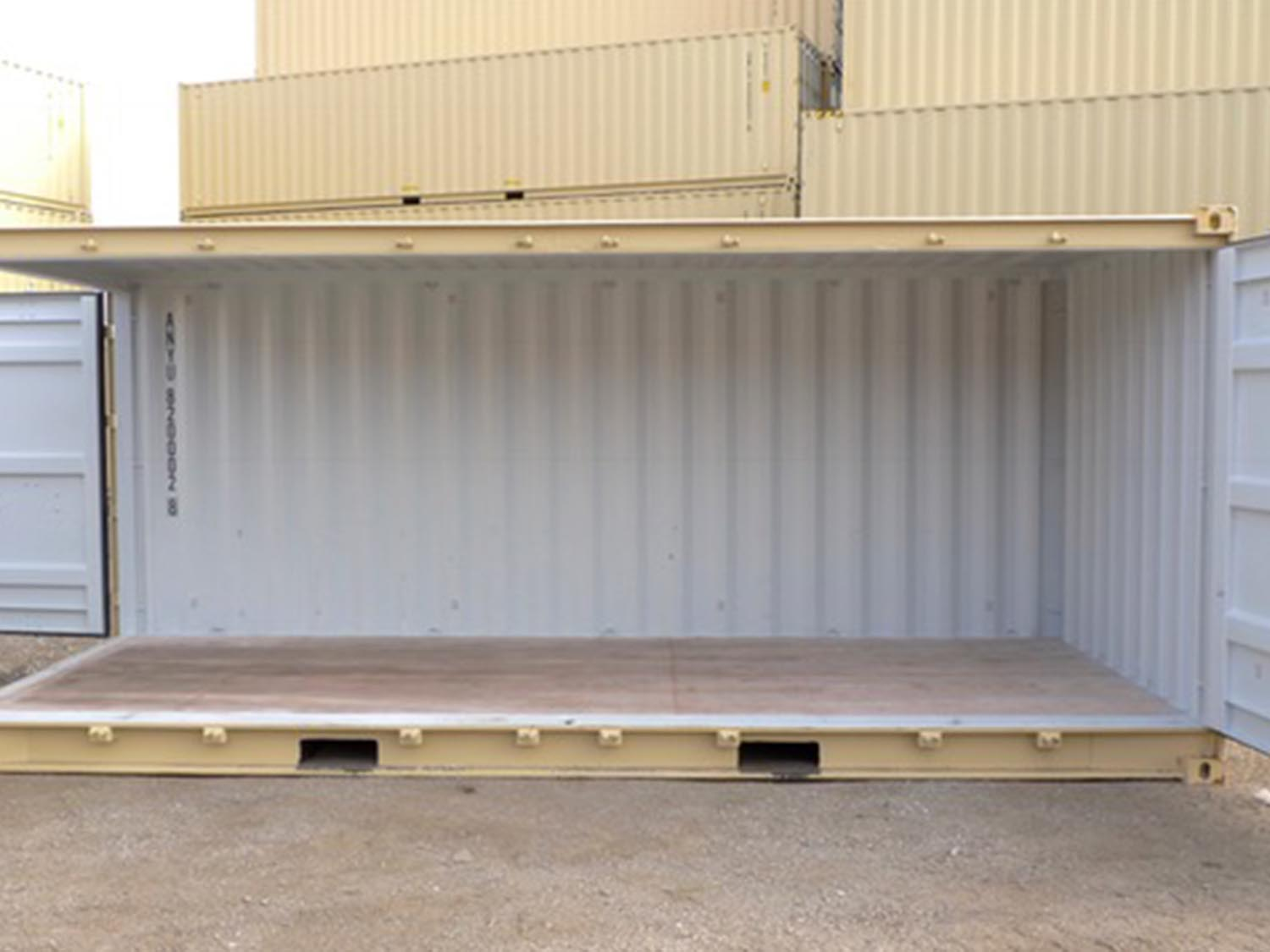 Giant swing doors on a shipping container