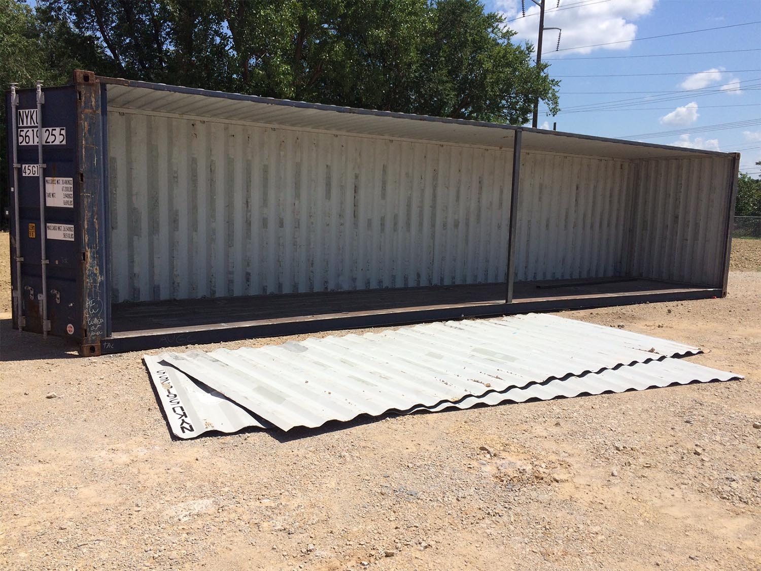 open side custom shipping container