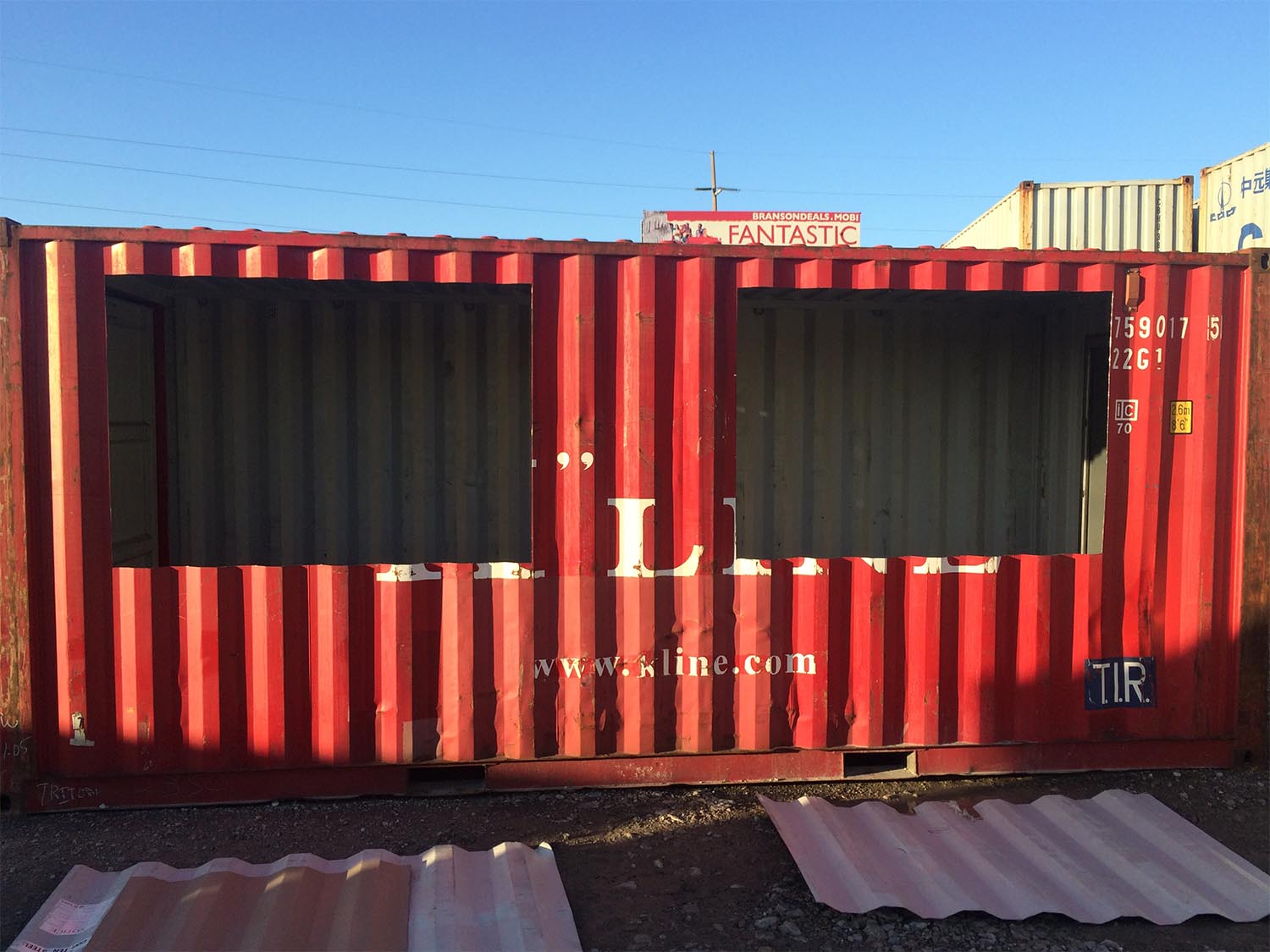 Shipping container ticket booth