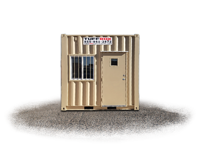 10-foot small mobile office container